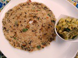 Gothumai Rawa and Thinai Adai / Broken Wheat and Foxtail millet Spicy Dosa