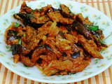 Kathirikkai Masala Curry / Fried Eggplants in Cream of Onion and Tomatoes