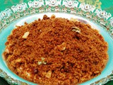 Sweet Puttu / Rice flour in Jaggery