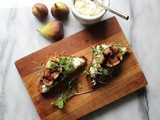 Balsamic Grilled Figs on Lemon-Ricotta Toast