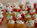 Easy Make Ahead Hors d'oeuvre ~ Crab Stuffed Cherry Tomatoes
