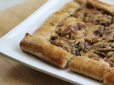 Mushroom, Bacon & Caramelized Onion Tart