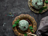 Basil Mint Chocolate Chips Ice Cream