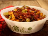 Maple Roasted Sprouts and Sweet Potatoes