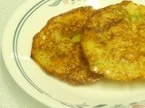 Bake With Bizzy - Crispy Baked Zucchini potato Pancakes - CEiMB