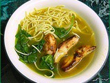 Chinese Barbecue Chicken Soup with Noodles