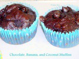 Chocolate, Banana and Coconut Muffins Donna Hay