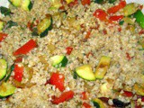 Kasha With Zucchini and Red Bell Pepper