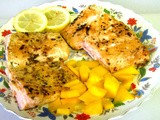 Lemon Salmon with Mango