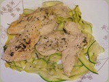 Lemon-Tarragon Chicken with Squash Ribbons
