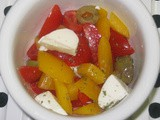 Pepper, Olive, and Mozzarella Salad