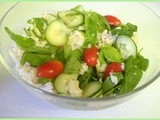 Rice and Baby Spinach Salad