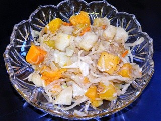 Sauteed Apples, Squash and Cabbage
