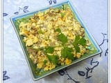 Scrambled Eggs with Meat and Onions - An Edible Mosaic