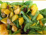 Spinach and Butternut Squash Salad with Nuts and Cranberries