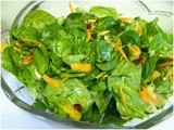 Spinach, Mandarin and Almond Salad