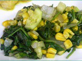 Zucchini, Spinach, and Corn Saute