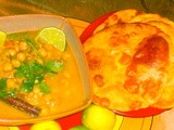 Bhatura and Chana Masala Curry