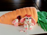 Giant carrot and bunny Easter cake