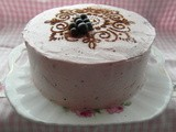 Blackcurrant and Chocolate Cake