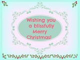 Blissfully Merry Christmas