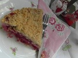 Cranberry and Rhubarb Crumble Tart
