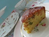 Orange, Pistachio and Avocado Cake