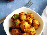 Baby Potato Fry | Small Potato Fry Chettinad Style