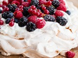 Berry Pavlova with Lemon Whipped Cream