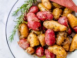 Braised Fingerling Potatoes with Garlic, Shallots, and Fresh Herbs