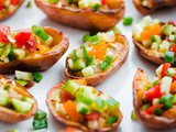 Greek-Style Potato Skins with Hummus
