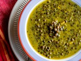 Green-Lentil Soup with Coconut Milk and Indian Spices