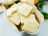Lemon Basil Shortbread Cookies