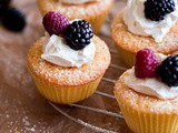 Mini Cornmeal Cakes with Whipped Mascarpone and Fresh Berries