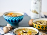 Mushroom Barley Soup with White Truffle Oil