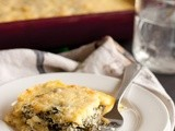Polenta Al Forno with Collard Greens, Cheddar & Ricotta