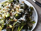 Roasted Broccoli with Toasted Almonds, Lemon & Pecorino Cheese