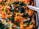 Rutabaga Baked Ziti with Mushrooms and Kale