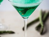 Sour Apple Martini with Asparagus Foam