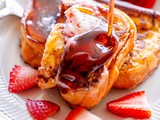 Strawberry Jam French Toast with Strawberry Butter