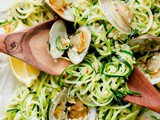Zucchini Pasta with Garlic Clam Sauce