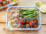 Baked Lemon Garlic Butter Shrimp And Asparagus – Recipe Video