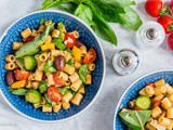 Healthy and Easy Mediterranean Pasta Salad
