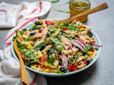 Healthy Tuna Pasta Salad Recipe (With Corn, Capers and Olives)