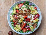Strawberry Avocado Salad With Feta And Arugula – Recipe Video