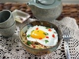 Burmese-Inspired Eggs with Rice for Breakfast