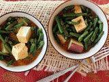 Chinese Long Beans and Tofu with Fragrant Coconut Sauce