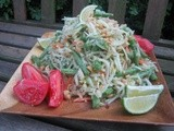 Green Papaya Salad (Som Tam) and Pop