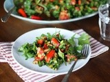 Herb and Tomato Salad with Pomegranate Dressing