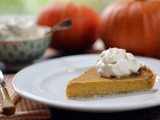 Pumpkin Pie with Maple Sweetened Whipped Cream